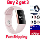 Fitbit Charge 3 4 Watch Soft Silicone Replacement Band Strap Wristband Strap Au