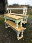 4 5 6 7 8 ft Solid Pine Reclaimed Timber Top Bench Seat Farmhouse Kitchen  for sale  Leicester
