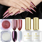 BORN PRETTY UV Gel Polish Base Top Coat Nail Mirror Powder Glitter Sequins Kit