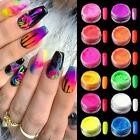 12 Grids Nail Art Flakes Holographicss Nail Glitter Sequins Decoration Fire Tips