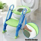 Kids Potty Training Seat w/ Step Stool Ladder Child Toddler Soft Toilet Chair US image