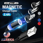 US 1-3M Round Fast Charger Cable Magnetic Charger IOS Lightning Type-C Micro USB