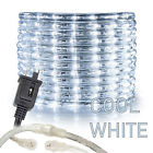 "Assorted Sizes 1/2"" Cool White LED Rope Lighting Thick Indoor Outdoor Christmas"