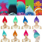 Adult Troll Style Festival Party Elf Pixie Wig Hair Cartoon Cosplay Costume Prop image