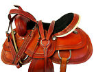WESTERN COWGIRL SADDLE TRAIL HORSE 16 15 BARREL RACING PLEASURE LEATHER TACK SET