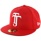 New Era 59Fifty Tijuana Xolos Fitted Hat (Scarlet) TJ Mexico Liga MX Soccer Cap