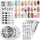 PICT YOU Flower Butterfly Nail Stamping Plates Nail Art Image Stenci Templates