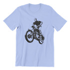Steve McQueen T Shirt Great Escape Triumph BMW R75 Motorcycle Stone Blue  AZ $17.95 USD on eBay
