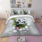 3D Panda Duvet Quilt Cover Bamboo Animals Bedding Set Pillow Cases All Sizes New