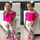 Toddler Baby Girls T-shirt Tops Floral Pants Outfits Fashion Summer Clothes Set