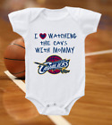 Cleveland Cavaliers Onesie Bodysuit Shirt Love Watching With Mommy on eBay