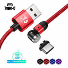 2020 New 3in1 2.4A Magnetic Fast Charging Cable Adjustable 540° Type-C Micro USB