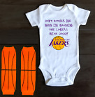 Los Angeles Lakers Onesie Bodysuit Shirt Don't Bother Me Watching With Daddy on eBay