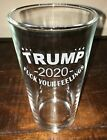 "New Donald Trump 2020 MAGA Beer Glass Engraved Republican ""F*** Your Feelings"""