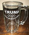"""New Donald Trump 2020 MAGA Beer Glass Engraved Republican """"F*** Your Feelings"""""""