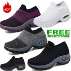 Women's Sport Air Cushion Sneakers Breathable Mesh Walking Slip-On Running Shoes