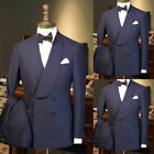 Double Breasted Formal Men Suits For Wedding Slim Fit Tuxedos Groom Prom Party