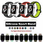 40/44/38/42/mm Silicone Sport iWatch Band Strap for Apple Watch Series 5 4 3 2 1 image
