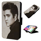 Iconic Elvis Presley - Flip Phone Case Wallet Cover - Fits Iphones