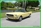 1965 Ford Mustang F Code 260 Cubic Inch V8 engine automatic transmission 1965 Ford Mustang Convertible Springtime Yellow