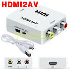 Composite HDMI to AV CVBS 3RCA 1080P HD Video Audio Switch Converter Adapter