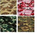 Camo Military Bandanas, Army Camouflage Headwraps, Bandana Head Scarves Do-rags
