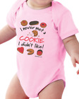Infant creeper bodysuit One Piece t-shirt Never Met A Cookie I Didn't Like