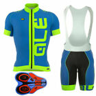 2020 New Team Bike Cycling Short Sleeve Jersey Shirt Gel Bib Shorts Clothing set