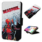 Deadpool Gun - Flip Phone Case Wallet Cover Fits Iphone & Samsung