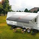 New RV Awning Fabric 12'-21' Feet for RV Camper Trailer Replacement Fabric Grey