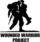 Wounded Warrior Project Window Decal/sticker; Veterans, Military, Car, Truck