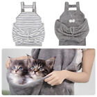 Small Plush Dog Cat Front Carrier Sling Hands Free Apron Bag Adjustable Head Out