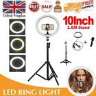 10 Inch LED Ring Light With Stand and Phone Holder Make-up for Camera Phone UK