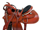 GAITED WESTERN HORSE SADDLE 16 15 PLEASURE TOOLED SMOOTH LEATHER TRAIL PACKAGE