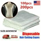 200pcs Disposable Hair Cutting Capes Hairdressing Home Barber Apron Dyeing USA