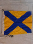Vintage Navy Maritime Ship Signal Code Flags & Pennants Cotton w Brass Snaps 24""