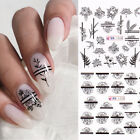Nail Water Decals Sakura Floral Series Transfer Sticker Nail Art Decoration DIY