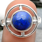 Lapis - Afghanistan 925 Sterling Silver Handmade Ring Jewelry s.7.5 SDR65897