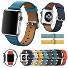 Leather Watch Strap Bracelet For Apple Watch Band iWatch 5 4 3 2 1 38/40/42/44MM image
