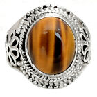 Tiger Eye - African 925 Sterling Silver Handmade Ring Jewelry s.6 SDR61107