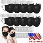 Black Reusable Washable Cloth Face Mask Mouth Cover With Pm2.5 Filters Us