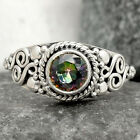 Natural Magic Topaz 925 Sterling Silver Handmade Ring Jewelry s.7 SDR71492