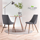Set of 2 Dining Chairs Kitchen Room Velvet Seat with Metal Legs Modern Furniture
