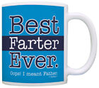 Funny Dad Gifts Best Farter Ever Oops Meant Father Fart Coffee Mug Tea Cup