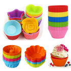 12 x silicone cake mold muffin chocolate cupcake bakeware baking cup mould tools