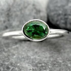 Natural Chrome Diopside 925 Sterling Silver Handmade Ring Jewelry s.7 SDR88049