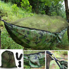 Double Person Summer Hammock Hooks Rope Hanging Hammock Bed+Mosquito Tent
