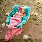 Newborn Baby Girl Crochet Knit Sea Mermaid Photography Photo Prop Costume Outfit