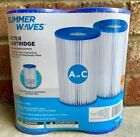 Brand New - Summer Waves® A/C Filter Cartridge - 2 Pack (Type A Or C Filter)