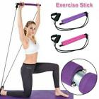 Pilates Bar Kit Resistance Band Portable Exercise Stick Toning Gym Yoga Fitness